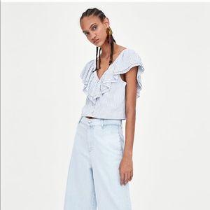 Zara short ruffled top